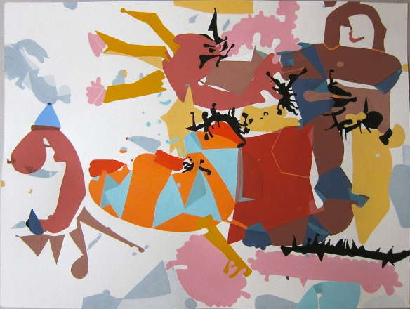 'Smitten'Gouache on Watercolour Paper25 x 35 cms