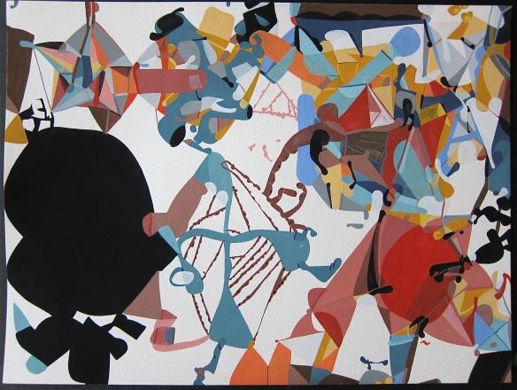 'Jump The Gap'Gouache on Watercolour Paper25 x 35 cms